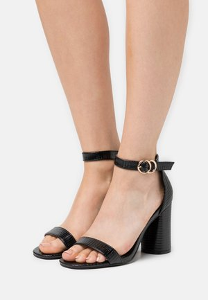 SOPHIA 2 PART BLOCKHEEL - Sandales - black