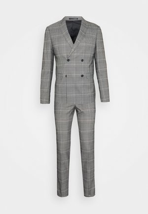 DOUBLE BREASTED CHECK SUIT - Garnitur - brown