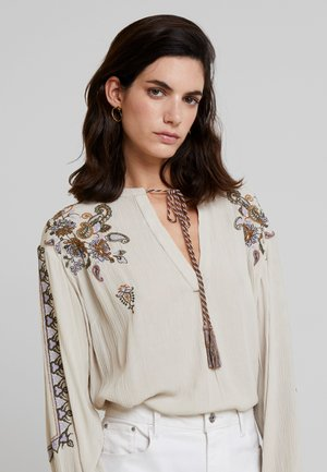 FENJA - Blouse - light beige