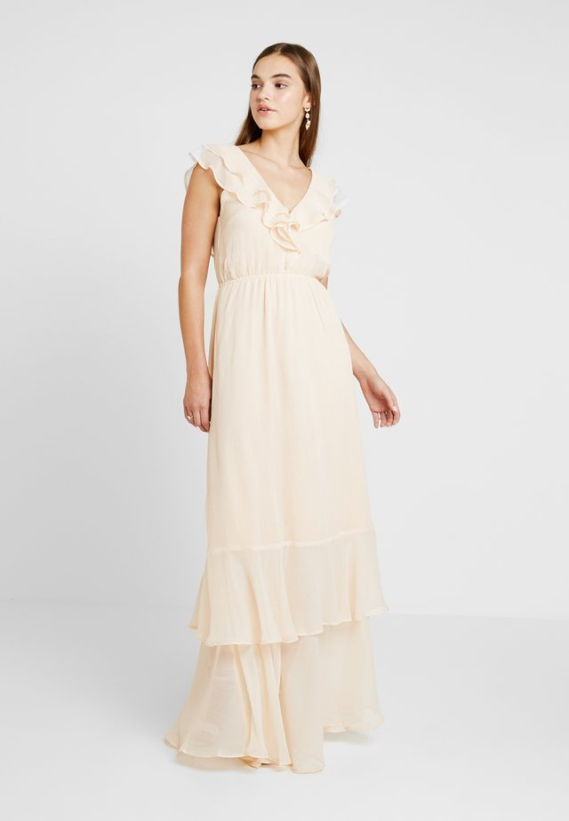 SHEER FRILL GOWN - Occasion wear - peach