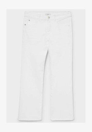 Bootcut jeans - white