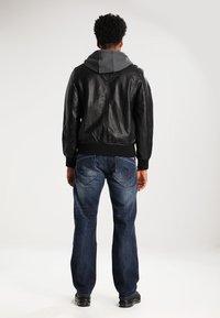 YOURTURN - Imitatieleren jas - black - 2
