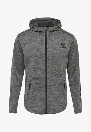 ASTON - Zip-up hoodie - dark grey melange