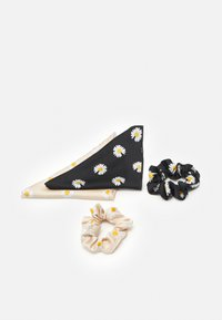 Pieces - PCJACOBINA SCRUNCHIE 2 PACK - Hair styling accessory - black/sand - 1