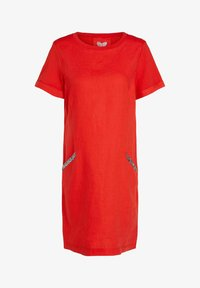 Oui - Jersey dress - fiery red - 4