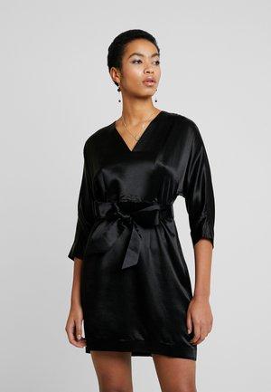 MINI KIMONO EVENING DRESS - Day dress - black