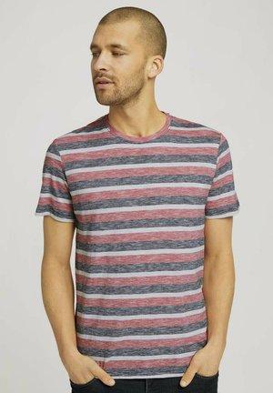 GESTREIFTES - T-shirt med print - red multi fine stripe