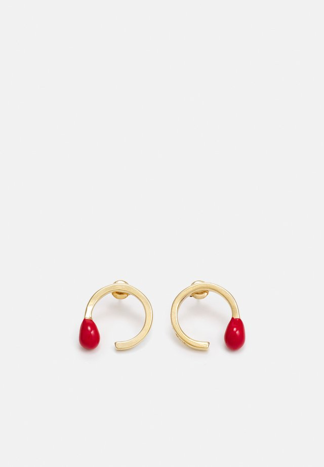 IT'S A MATCH - Orecchini - gold-coloured/red
