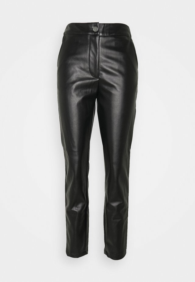 PLEAT FRONT CIGARETTE - Broek - black