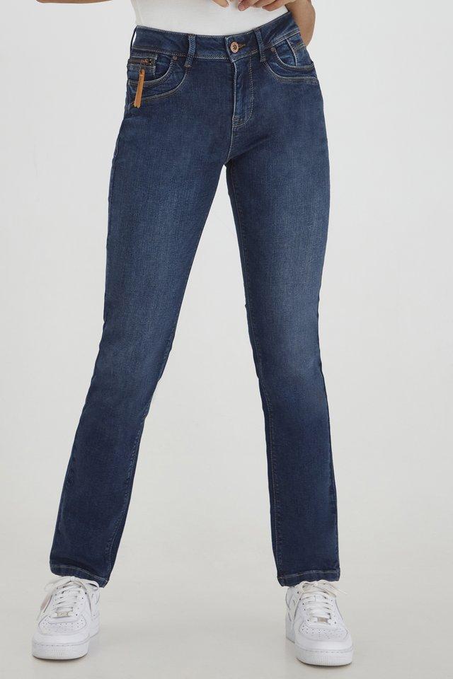 KAROLINA HIGHWAIST - Straight leg jeans - medium blue
