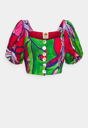PUFF SLEEVES - T-shirts med print - tropical bunch