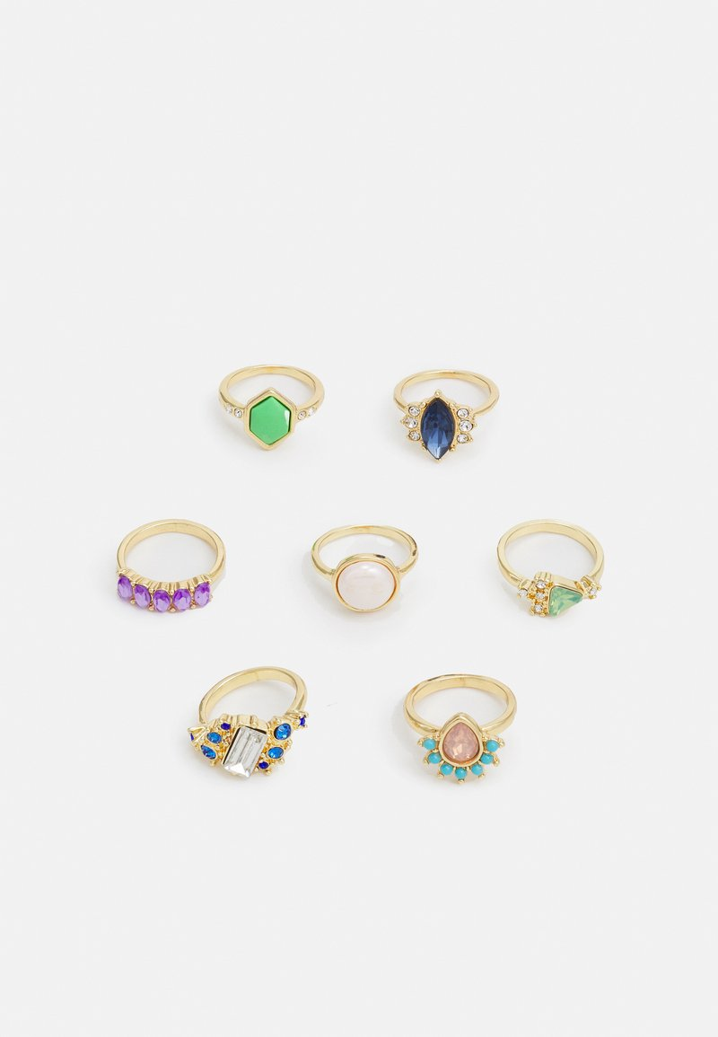 Pieces - PCLAM 7 PACK - Ring - gold-coloured/multi