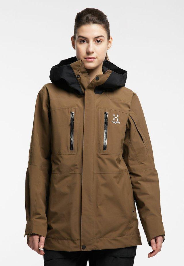 ELATION GTX JACKET  - Snowboard jacket - teak brown/true black
