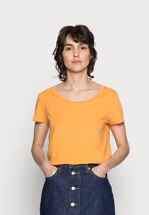 SLUB SHIRT - Basic T-shirt - golden orange