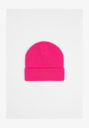 MIT STICKEREI - Beanie - neon pink