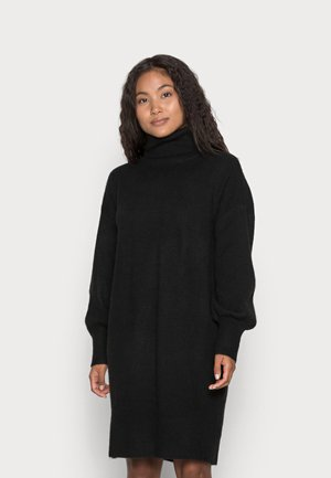 PCFABIA HIGH NECK DRESS - Neulemekko - black