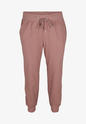 Tracksuit bottoms - rose taupe melange