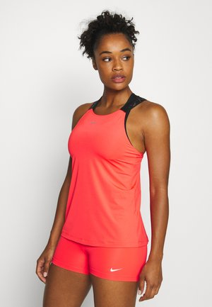 ELASTIKA TANK - Sports shirt - laser crimson/black/metallic silver