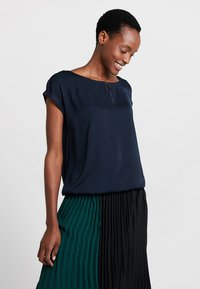 TOM TAILOR - FABRIC MIX - Blouse - sky captain blue/blue - 0