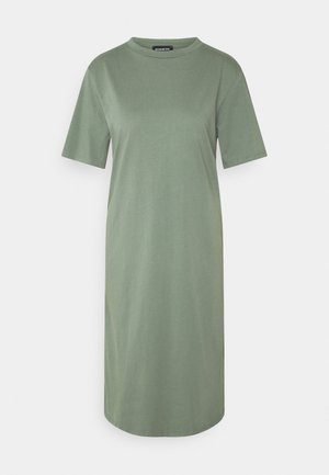 Basic midi Jerseykleid - Jersey dress - green