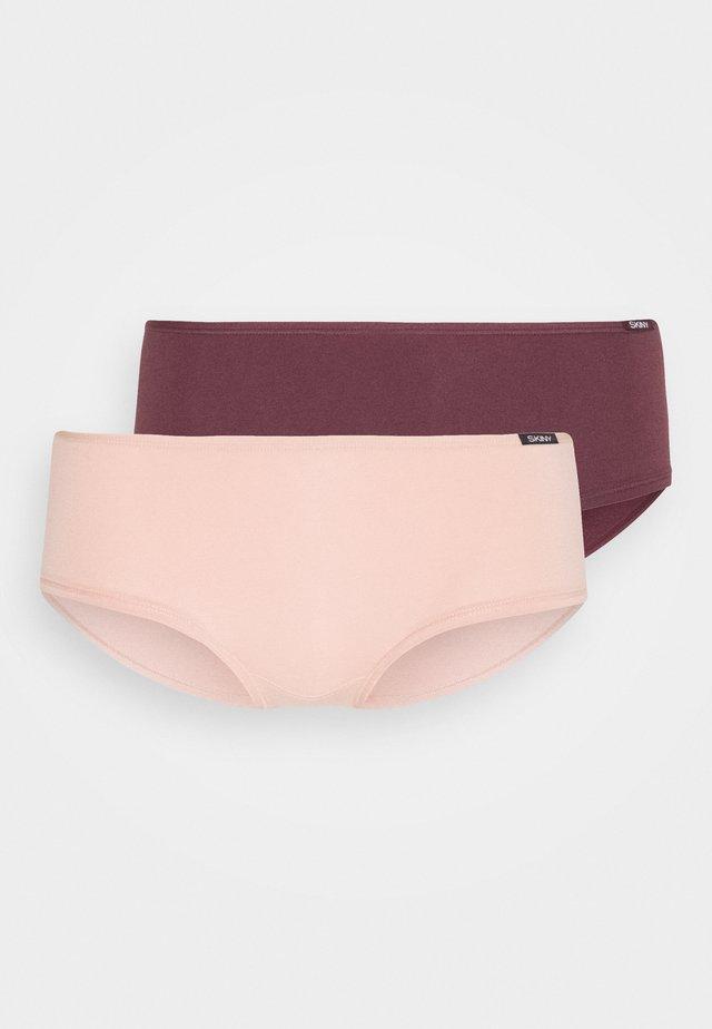DAMEN PANTY ADVANTAGE 2 PACK - Underkläder - aubergine selection