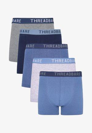 5 PACK - Pants - mid grey marl / denim blue / navy / denim marl / grey marl