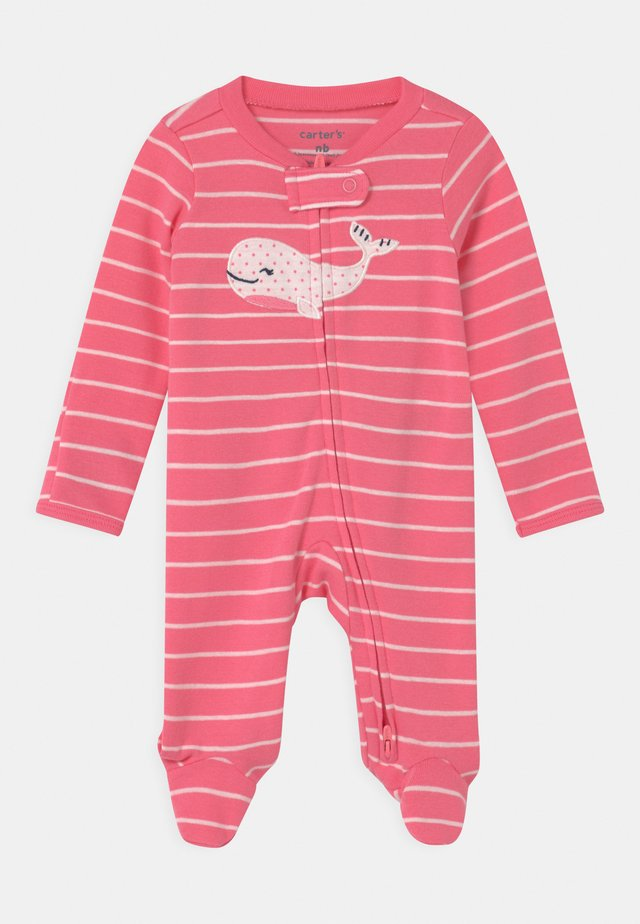 WHALE - Dupačky na spaní - pink