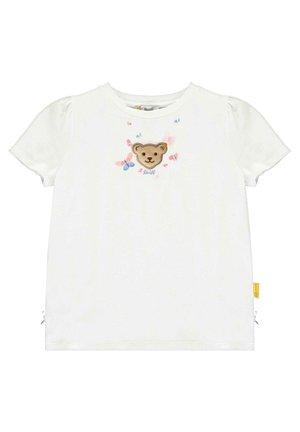 STEIFF COLLECTION T-SHIRT MIT SCHMETTERLING-PRINT - Print T-shirt - bright white