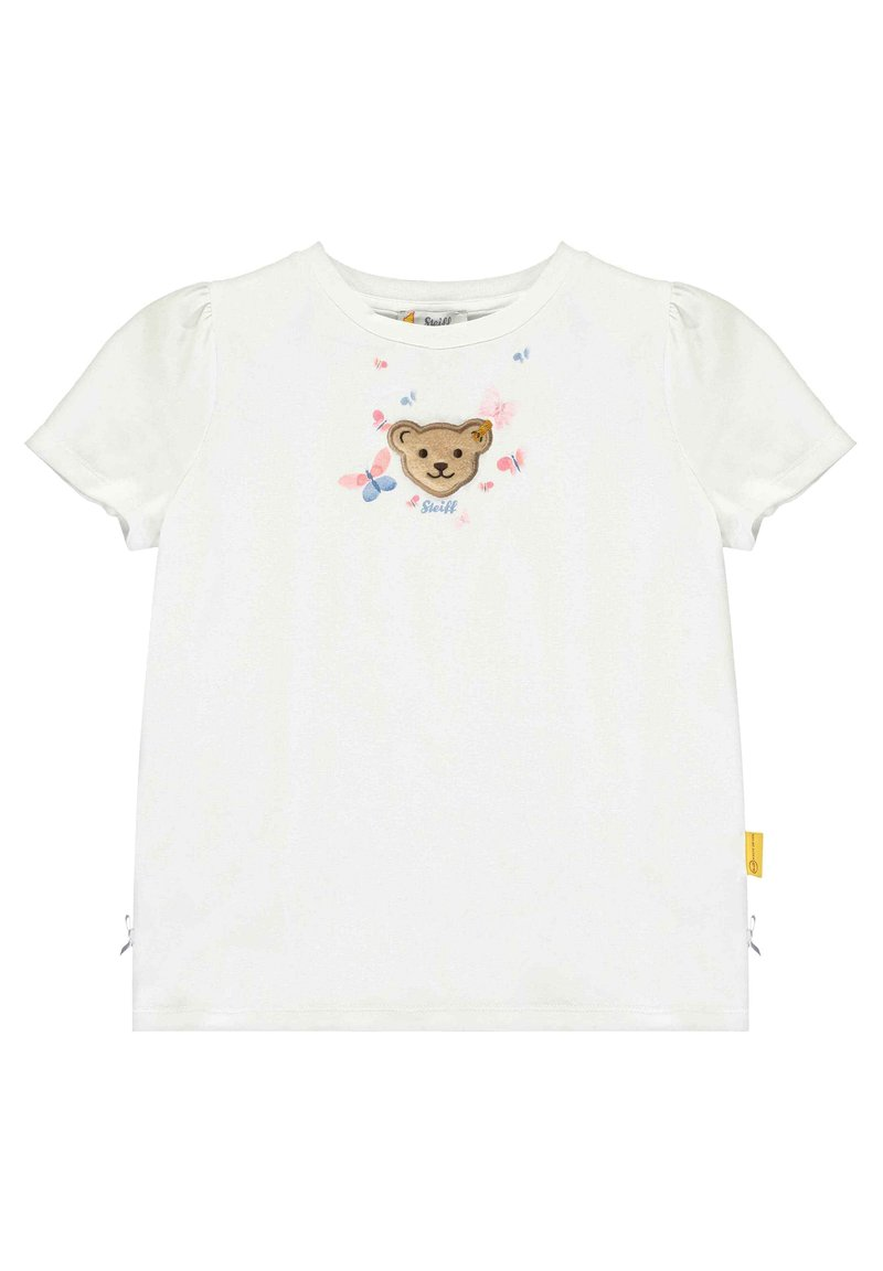 Steiff Collection - STEIFF COLLECTION T-SHIRT MIT SCHMETTERLING-PRINT - Print T-shirt - bright white