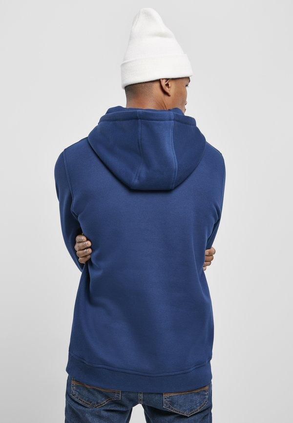 Starter Bluza z kapturem - blue night/niebieski Odzież Męska JLAK
