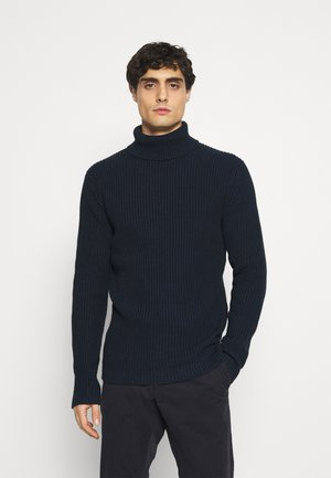 STRUCTURED TURTLENECK - Strikpullover /Striktrøjer - sky captain blue