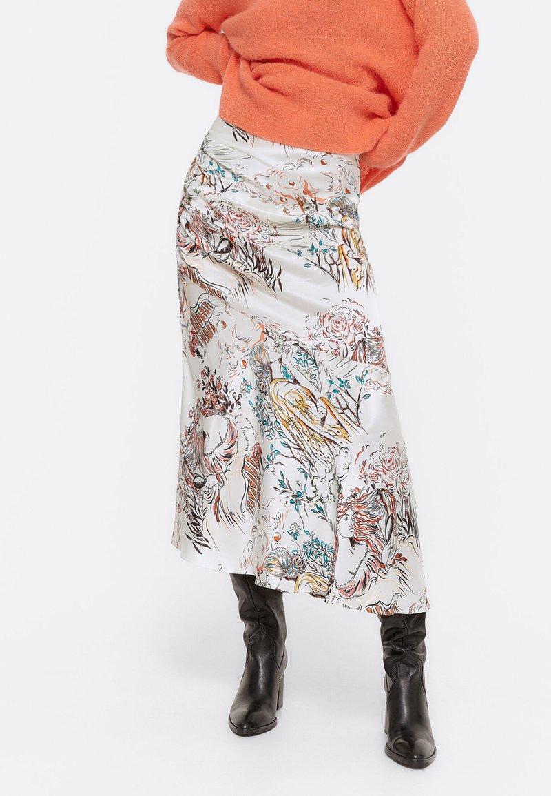 Uterqüe - A-line skirt - beige