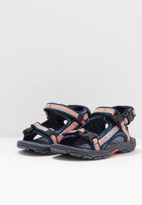 Kappa - RUSHEEN - Walking sandals - navy/coral - 3