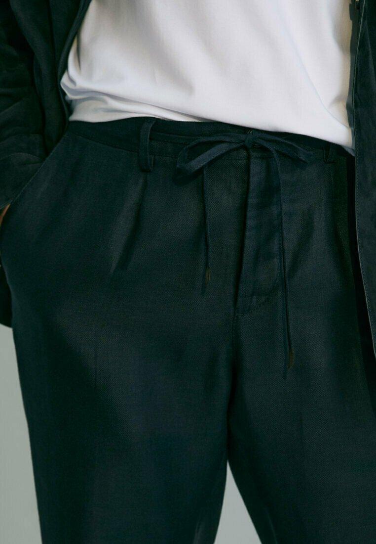 Massimo Dutti - Trousers - blue-black denim