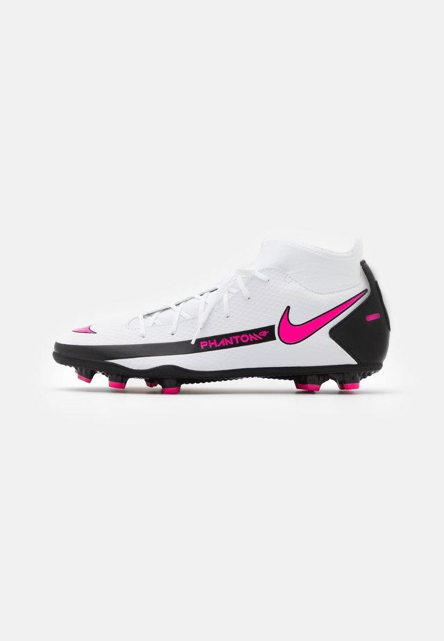 PHANTOM GT CLUB DF FG/MG - Chaussures de foot à crampons - white/pink blast/black