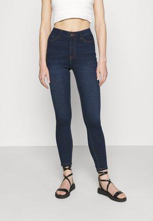 JDYTULGA LIFE HIGH SKINNY MIX  - Jeans Skinny Fit - dark blue denim