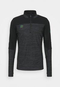 Umbro - PRO TRAINING ELITE ZIP - Long sleeved top - black/carbon - 0