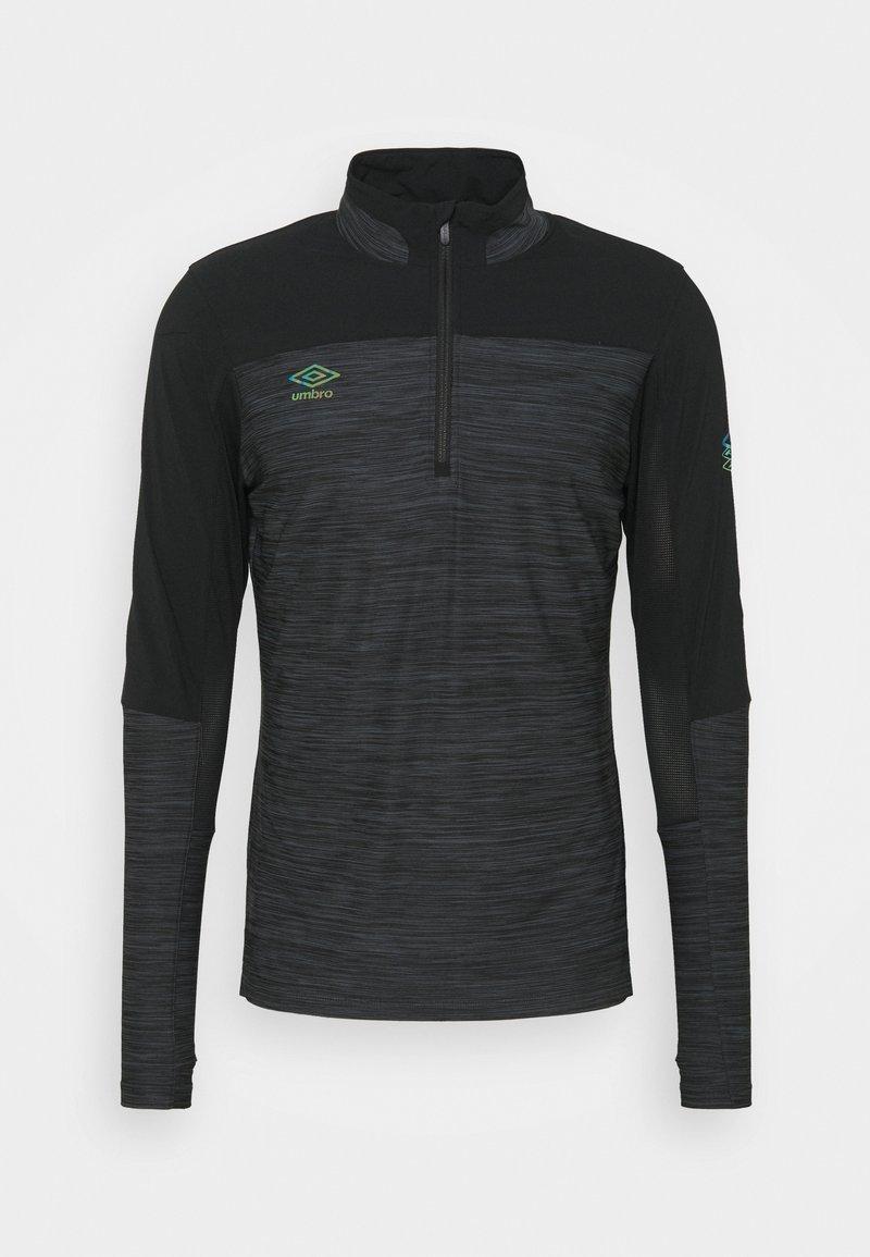 Umbro - PRO TRAINING ELITE ZIP - Long sleeved top - black/carbon