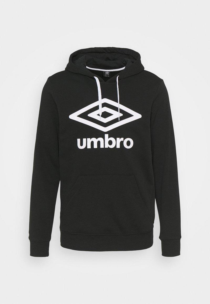 Umbro - LARGE LOGO HOODIE LOOPBACK - Sweatshirt - black