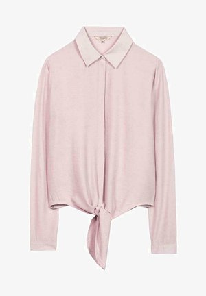 HERRLICHER SEMISE MIT KNOTEN - Button-down blouse - pink