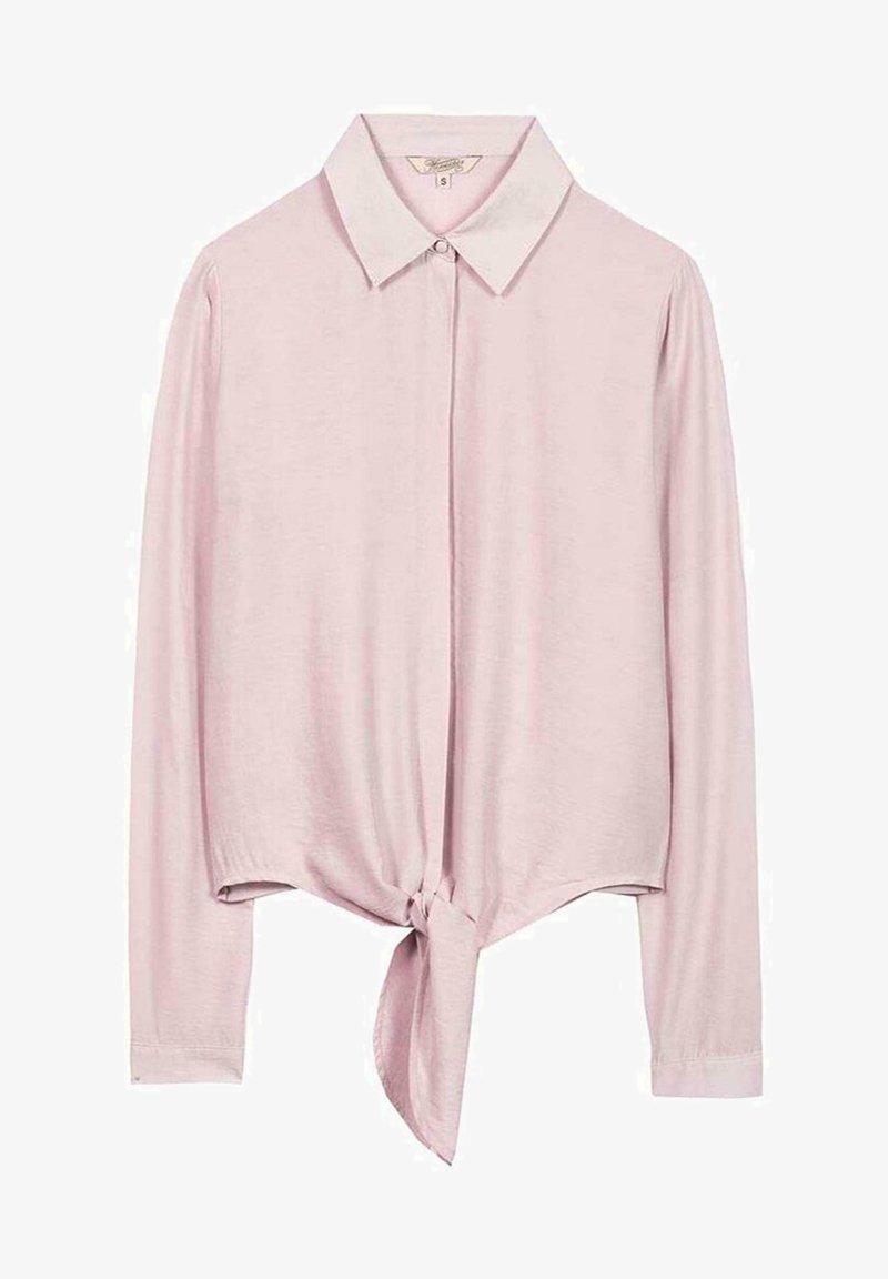 Herrlicher - HERRLICHER SEMISE MIT KNOTEN - Button-down blouse - pink