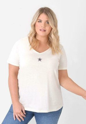 WITH STAR - Print T-shirt - off-white