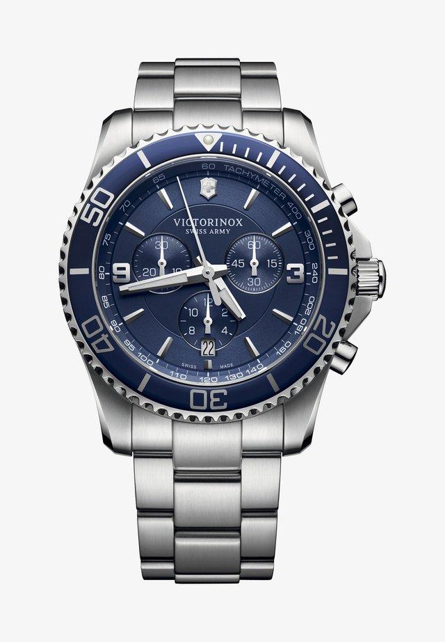 Chronograph watch - blue silver