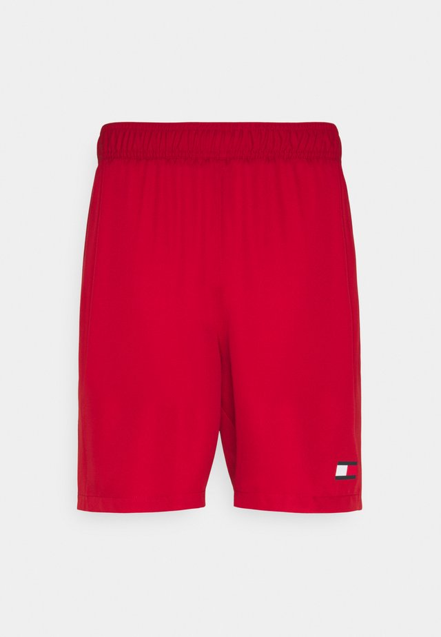 LOGO FLAG SHORT - Sports shorts - red