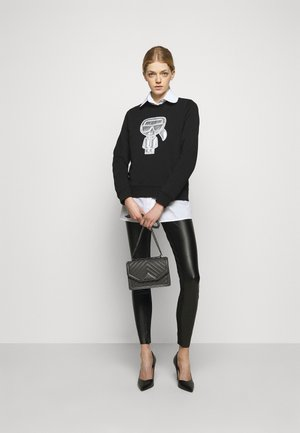 METALLIC STRETCH - Leggings - Trousers - black