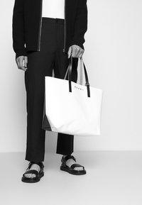 Marni - TRIBECA SHOPPING BAG UNISEX - Shopping bag - cement/coffee/black - 1
