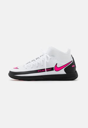 JR PHANTOM GT CLUB DF IC UNISEX - Indoor football boots - white/pink blast/black