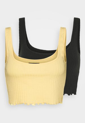 2 PACK - Toppe - black/yellow