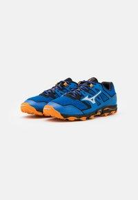 Mizuno - WAVE HAYATE 6 - Trail running shoes - blue/lunar rock/orange - 1