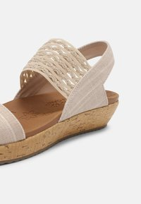Skechers - BRIE - Platform sandals - nude sparkle - 7